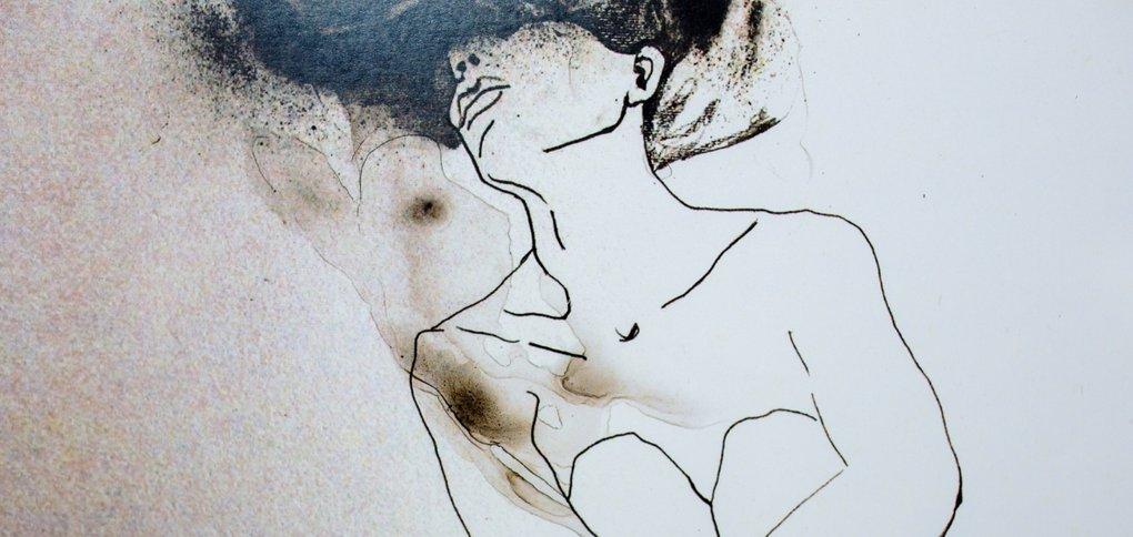 Экспозицию представила сама автор — художница Йована Вуянович.