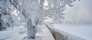 Морозный день на Ангаре