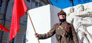 Митинг в Иркутске в честь 100-летия Октябрьской революции