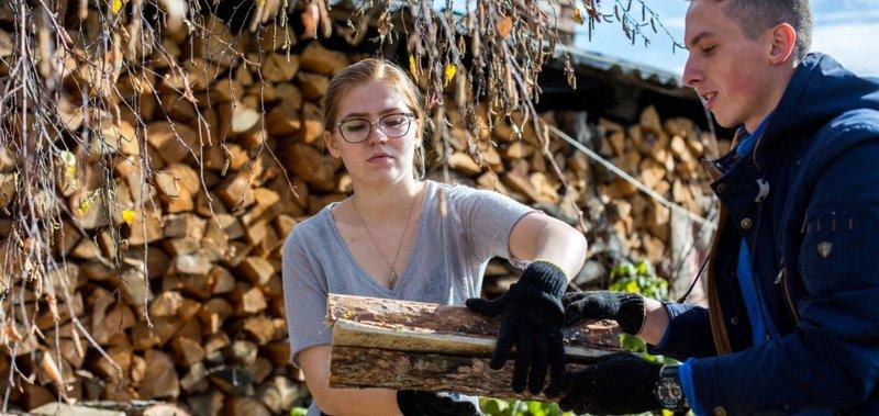 Команда «Молодёжки ОНФ» помогла пенсионерам заготовить дрова.