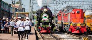 Прибытие первого паровоза в Иркутск