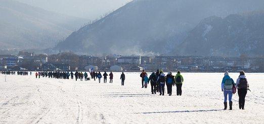Ледовый переход через Байкал