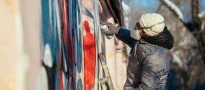Граффити «Голосуем за Россию» появилось в Иркутске