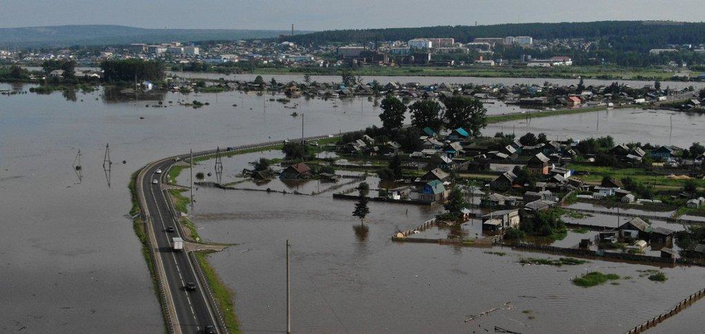 фото тулун наводнение