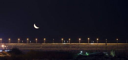 Огни ночного Иркутска