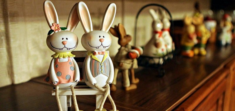 Пасхальные кролики Татьяны Быковой.