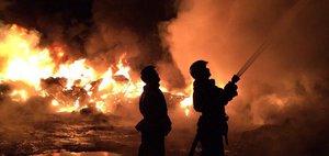 Пожар на полигоне ТБО в Иркутске
