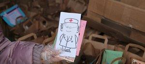 Поможем врачам: школа «Точка будущего» доставляет врачам горячие обеды и детские рисунки
