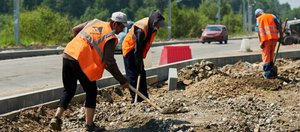 Летний ремонт дорог в Иркутске