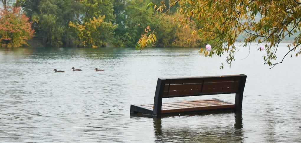 Уровень Ангары поднялся из-за проливных дождей.