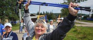 Фестиваль скандинавской ходьбы в Большой Речке