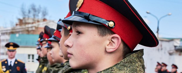 Церемония принятия присяги иркутскими кадетами