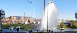 Прорыв водопровода около «Союза»: видео