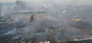 Последствия пожаров в Иркутской области