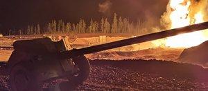 Военные ликвидировали пожар на нефтяной скважине в Усть-Кутском районе: видео