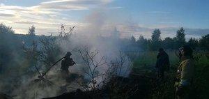 Последствия пожара в Братске