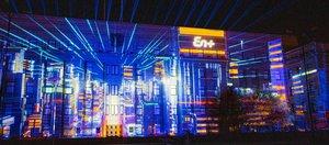 Световое шоу «Энергия эволюции» и фейерверк в Иркутске