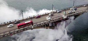 Коммунальная авария на Глазковском мосту