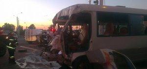 Видео аварии с маршруткой №2