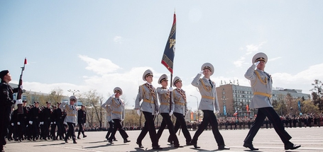 Празднование Дня Победы на площади графа Сперанского